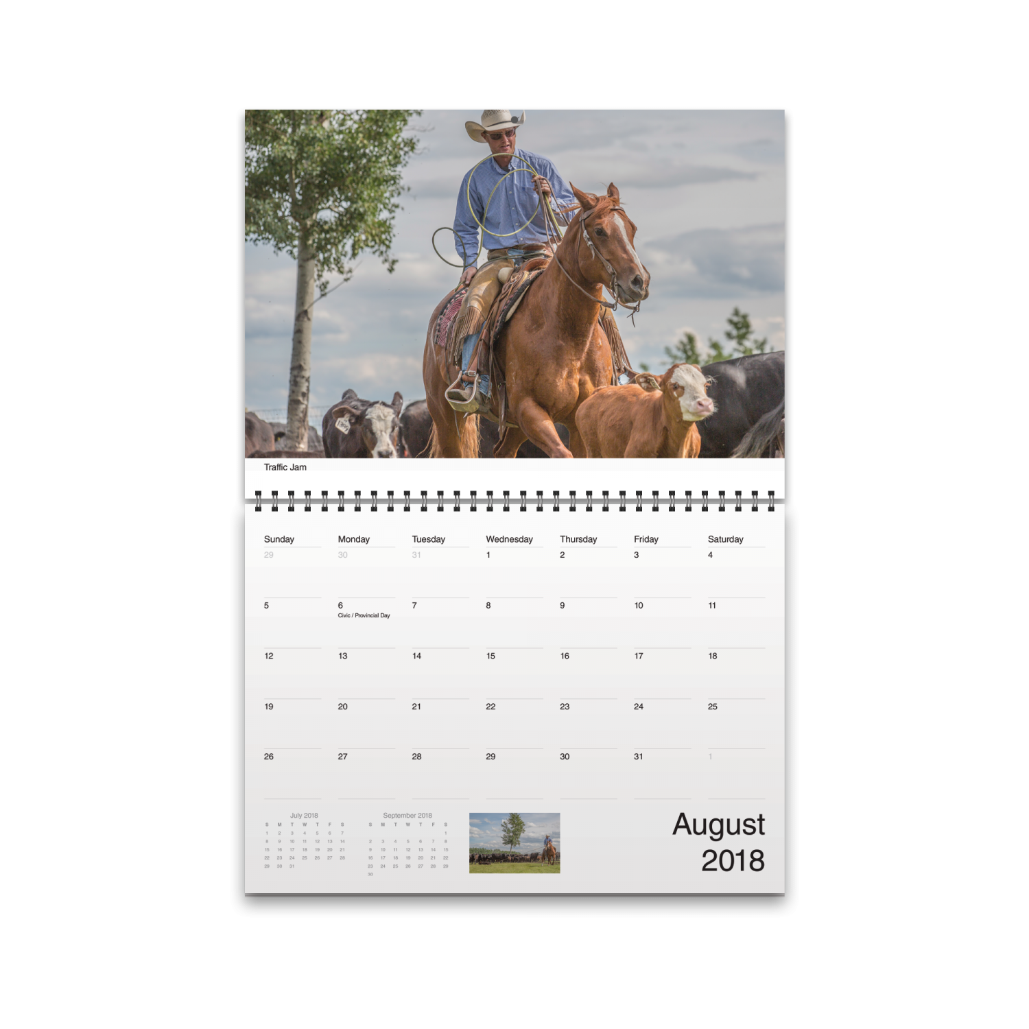 2018 Calendar View showing October